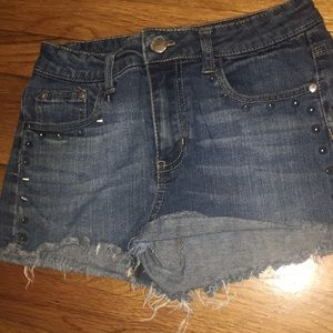 Spiked forever 21 jean shorts